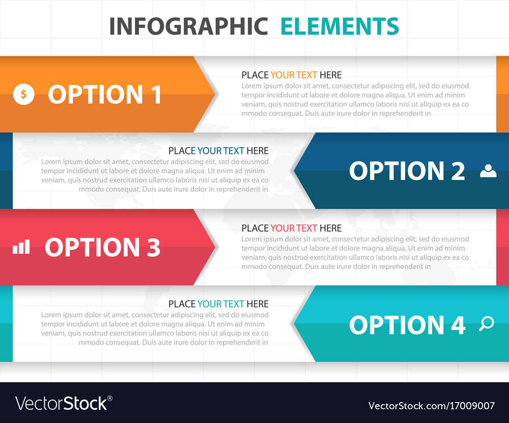 Colorful arrow label business infographics vector image