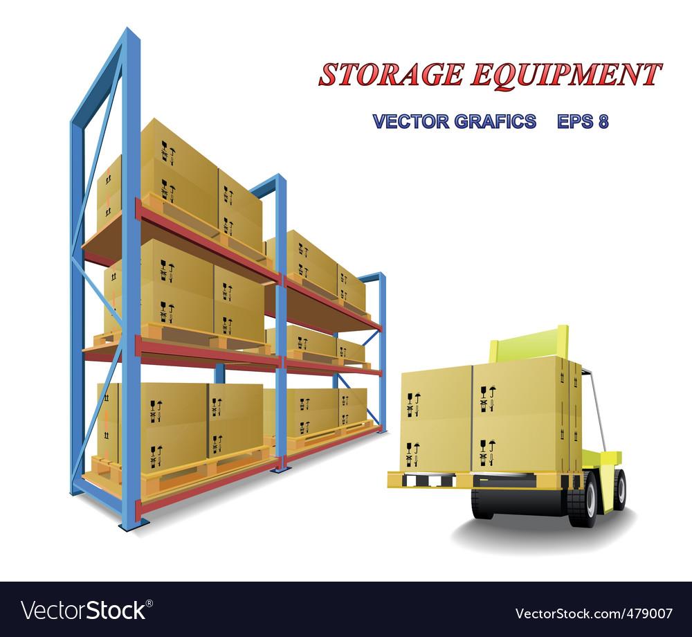 Storage equipment vector image