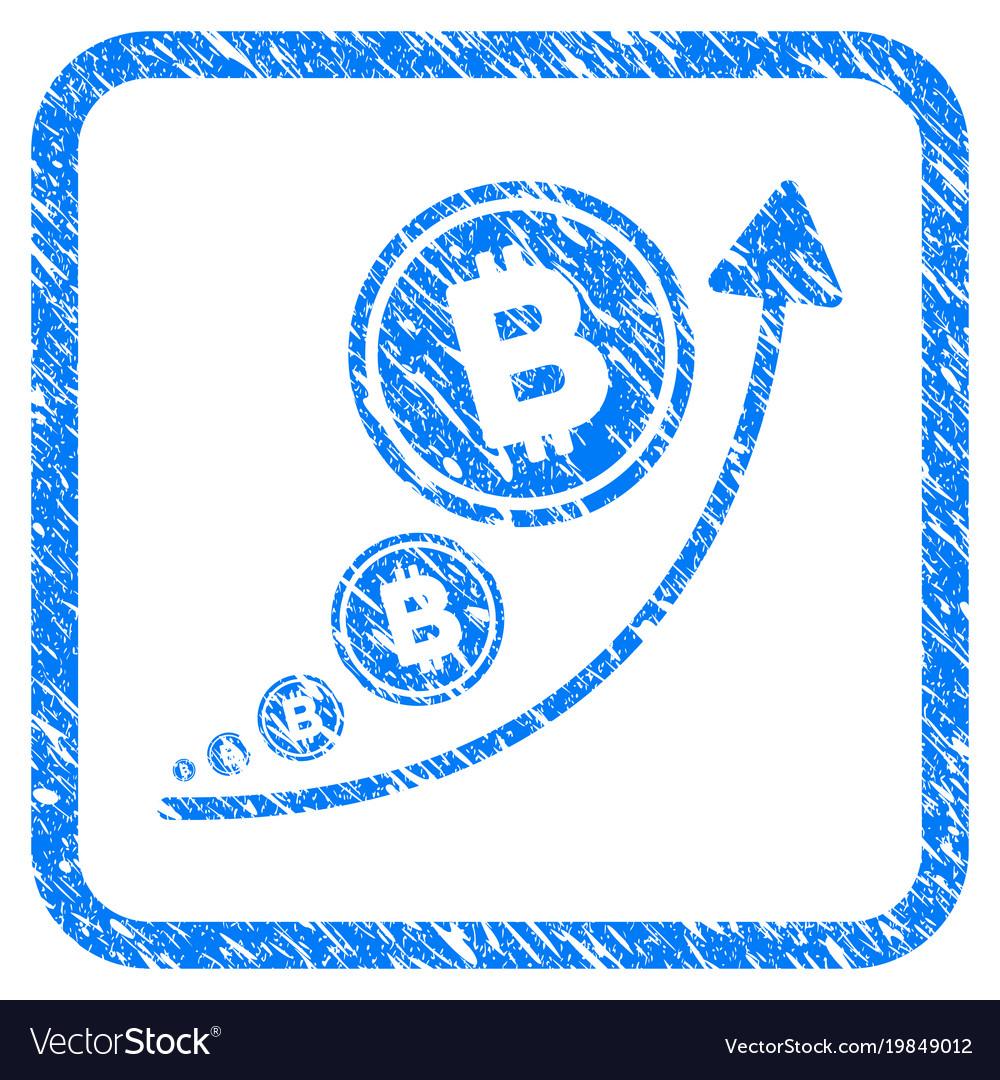 Bitcoin inflation trend framed stamp
