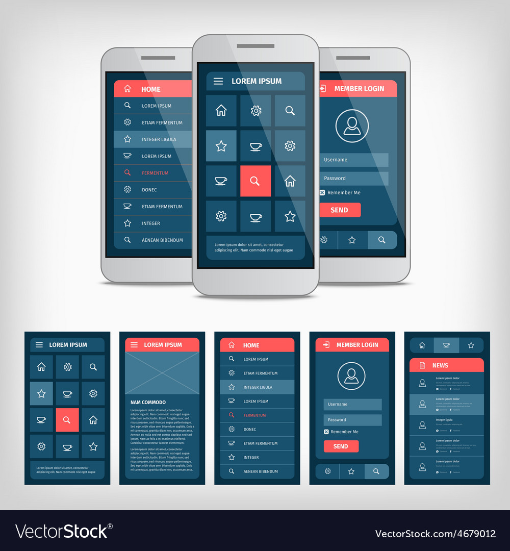 Conception of mobile user interface