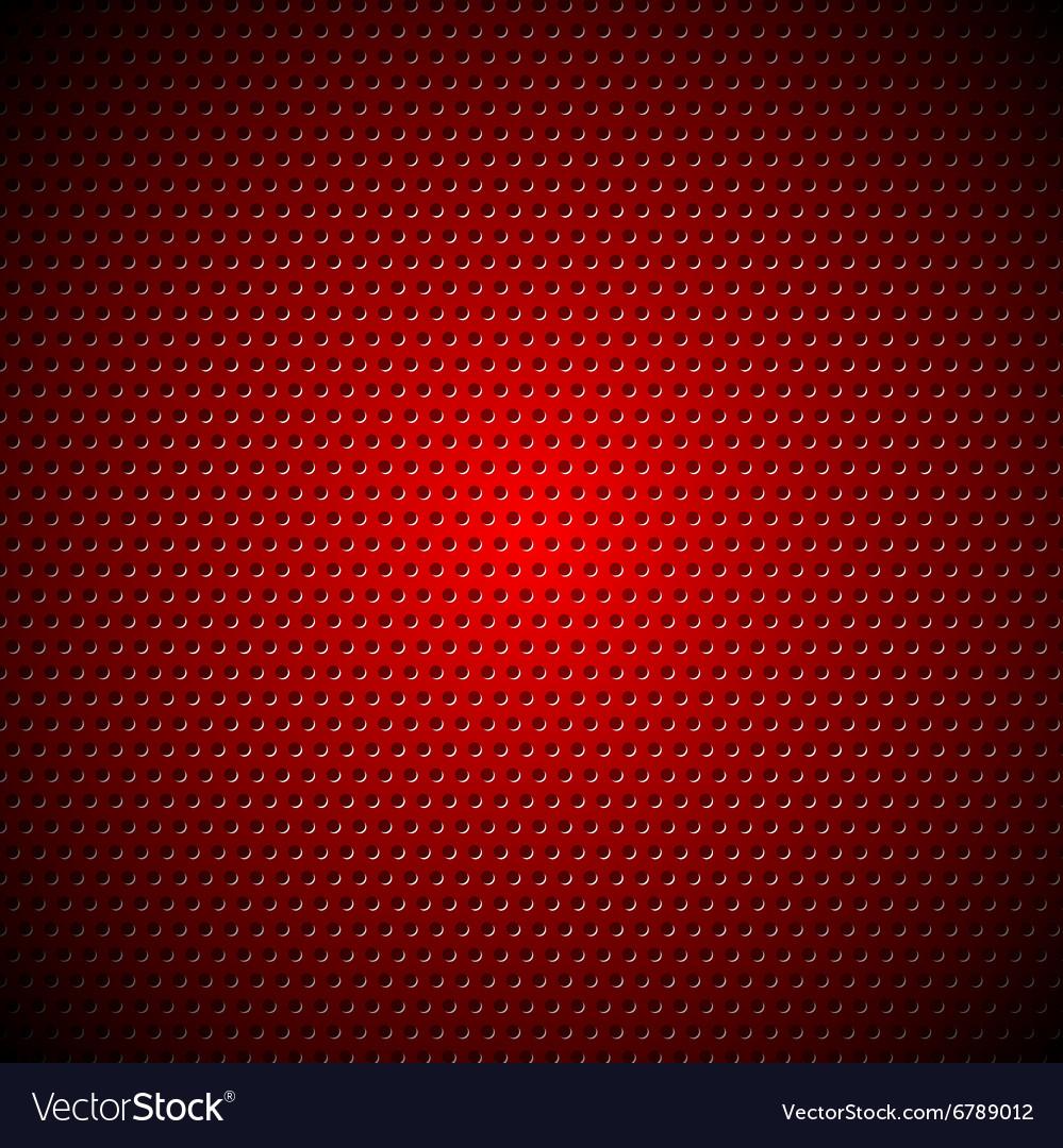 Dark red metal perforated texture vector image