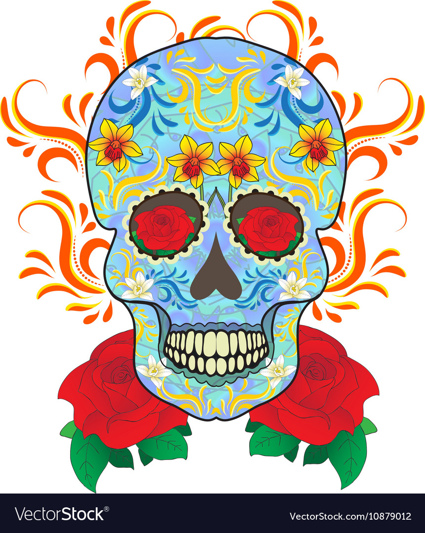Day of the Dead celebration a festival in Mexico vector image
