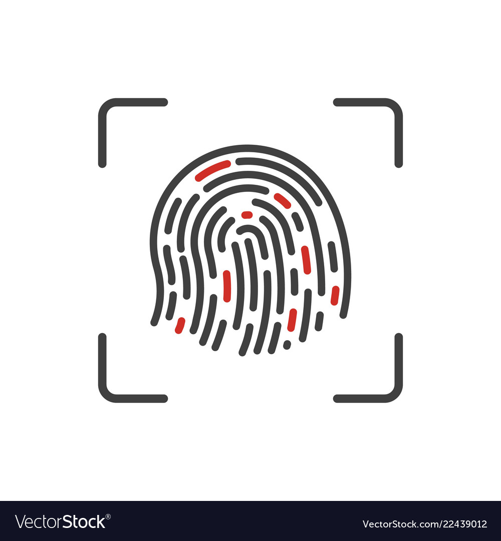 Finger print scanning process icon