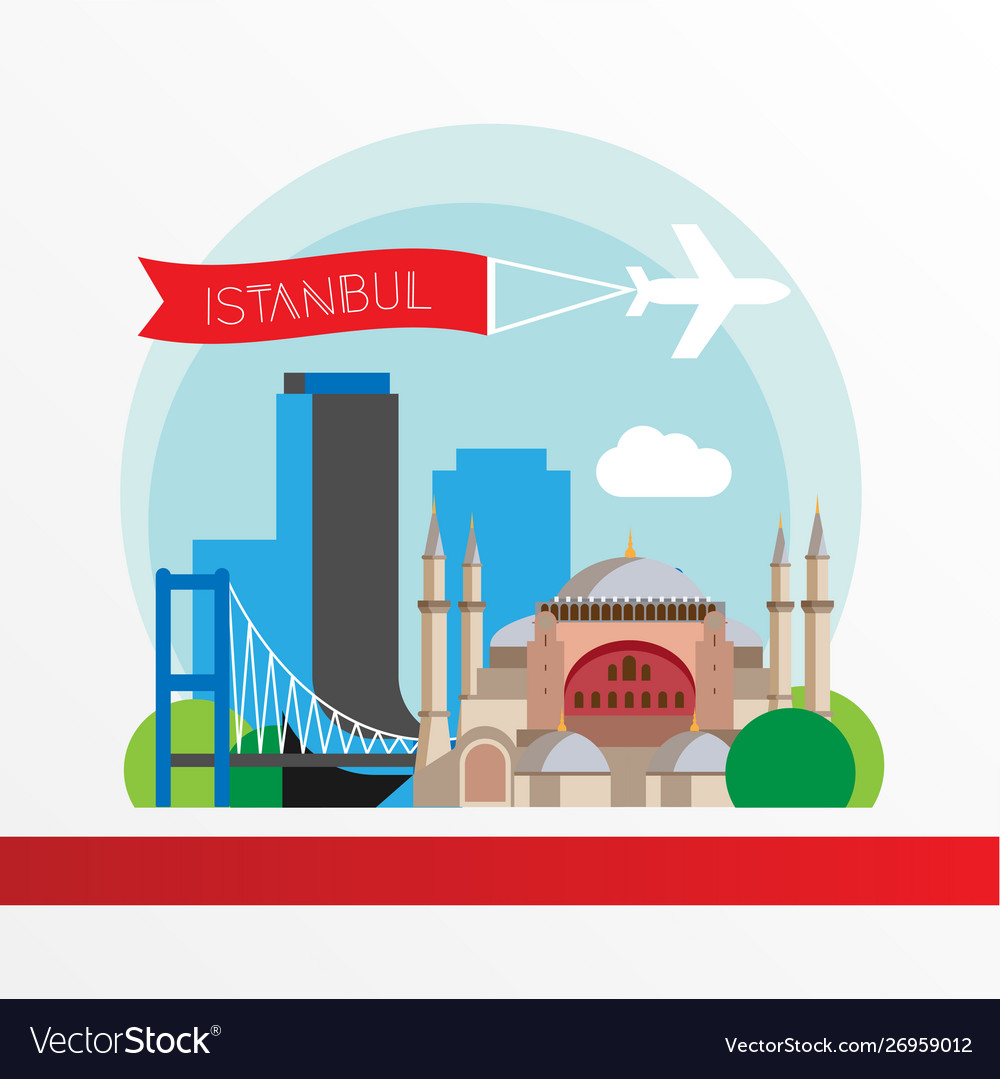 Istanbul turkey detailed silhouette