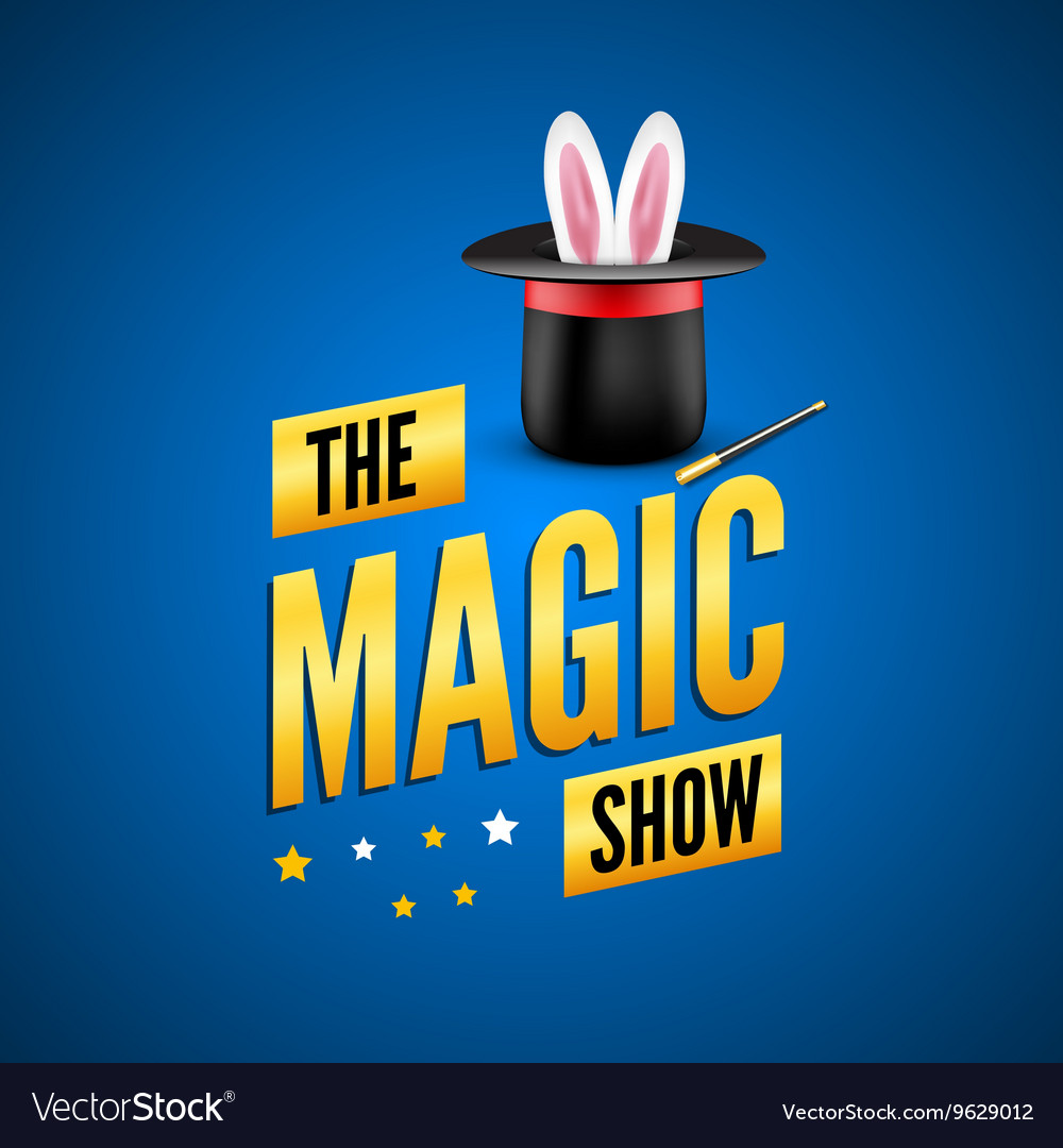 Magic poster design template Magician logo