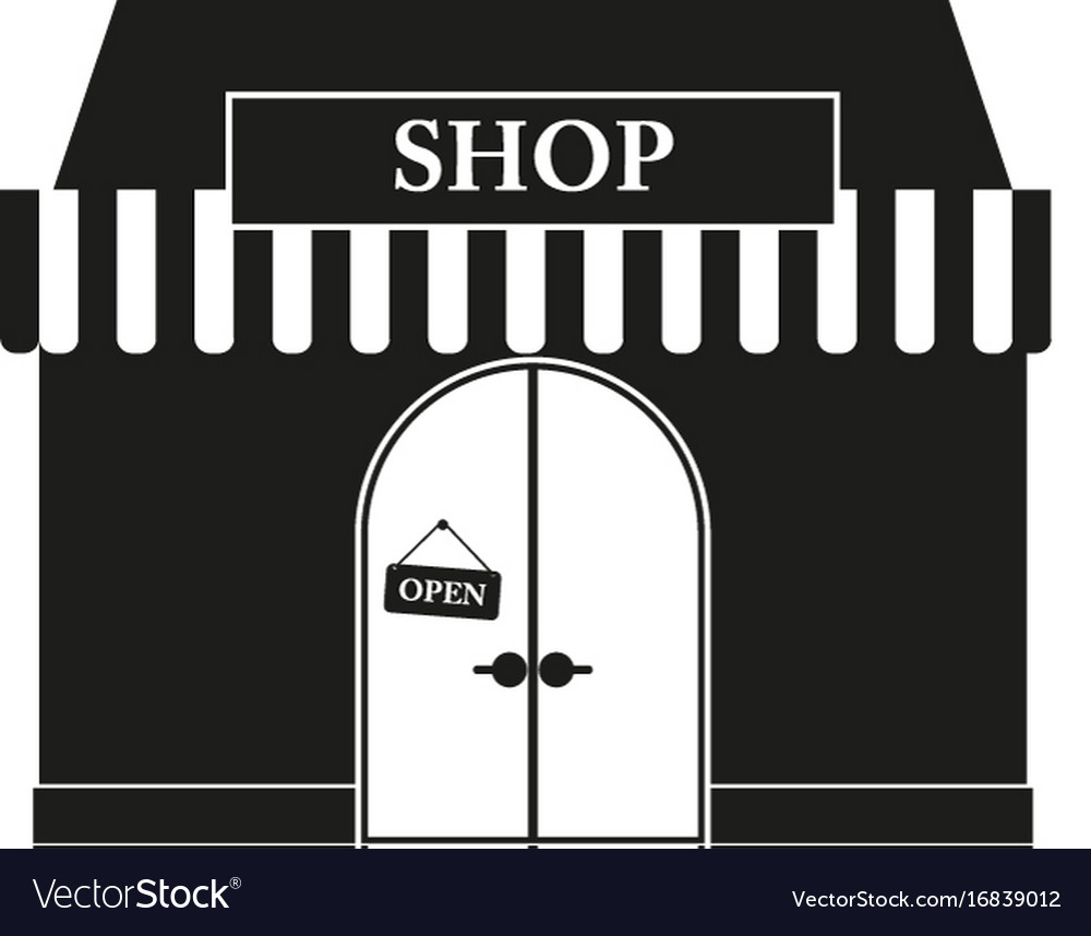 Shop sign black icon on