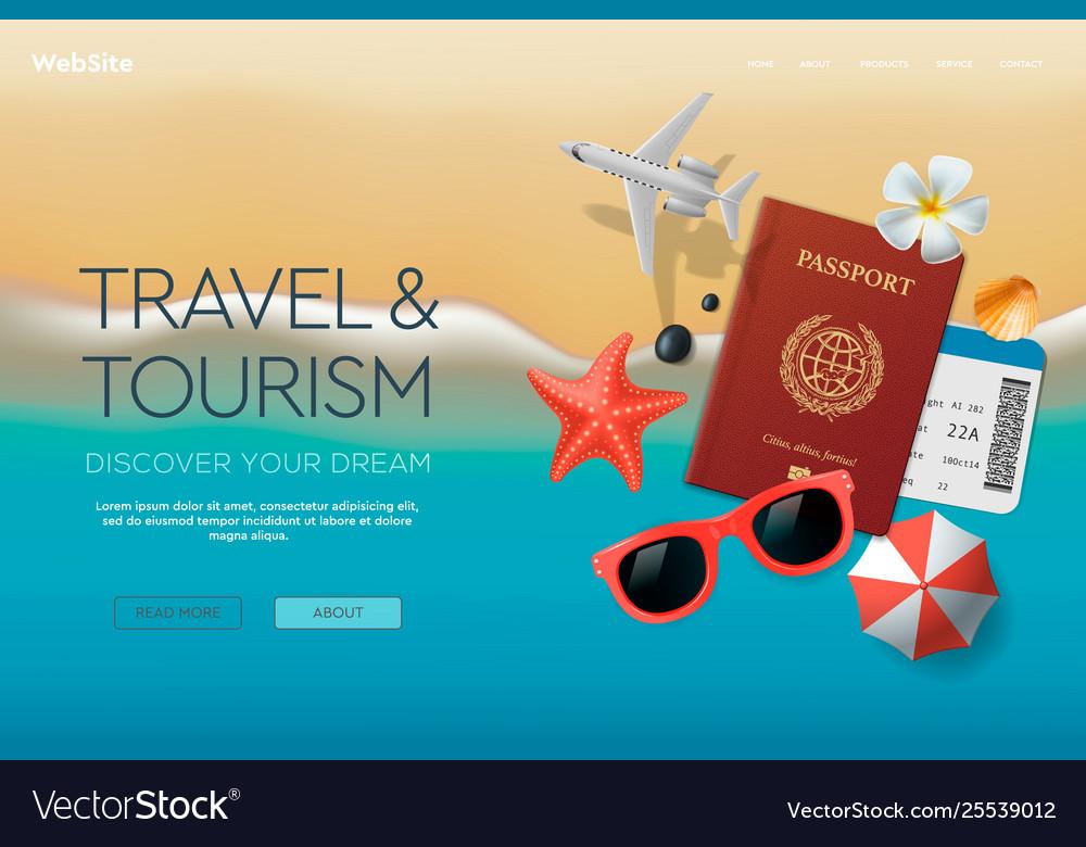 Web site design template on theme travel