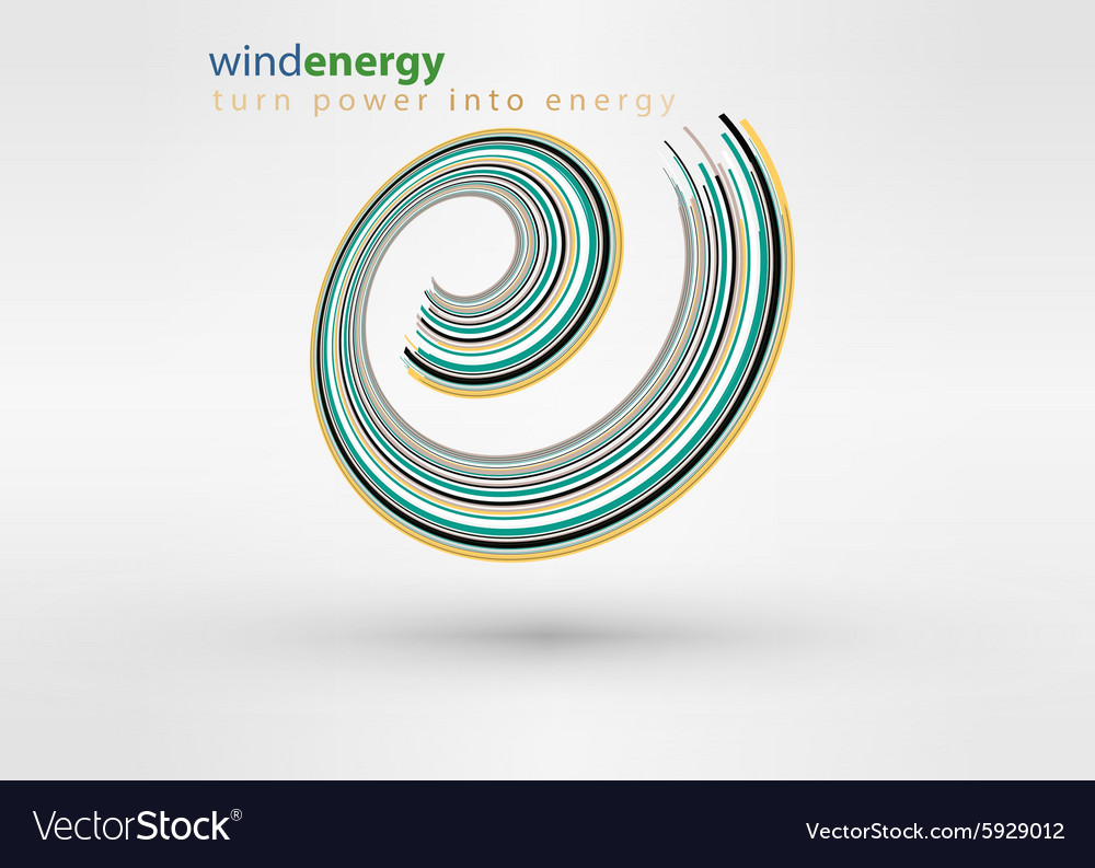 Windmill creative colorful abstract logo vector image