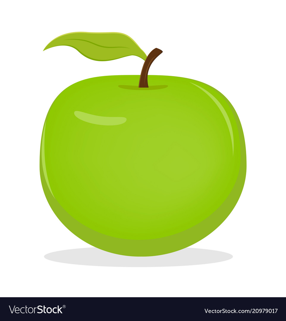 Apple fruit icon isolated fruits and vegetables