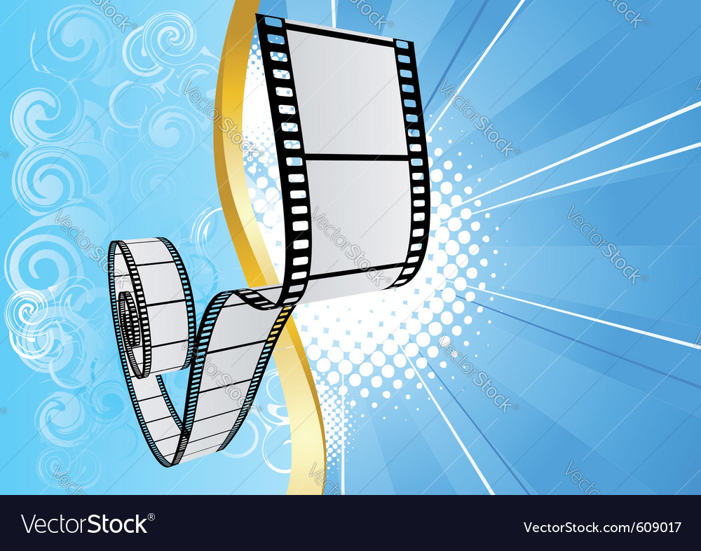 Blue Background With Film Royalty Free Vector Image