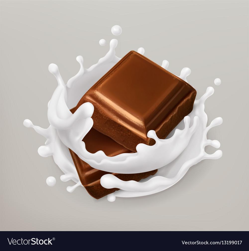 Chocolate and milk splash Chocolate and yogurt