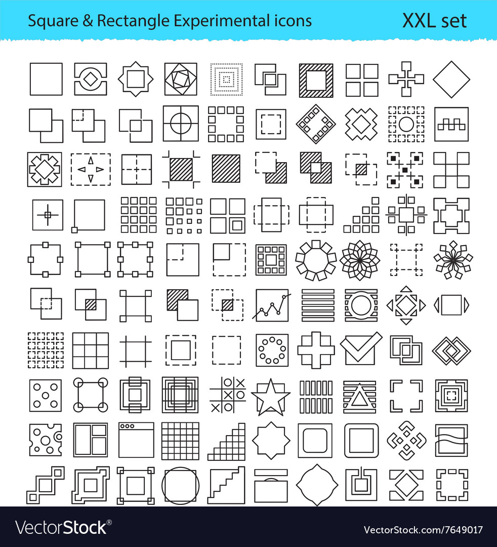 Geometric icons for UXUI tools and mobile