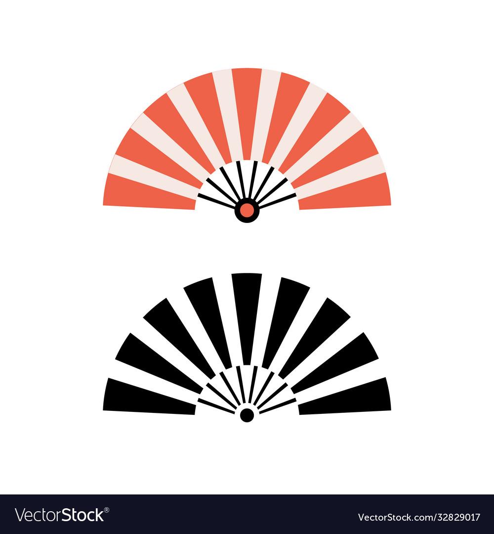 Hand fan chinese fold clipart icon japan held fan