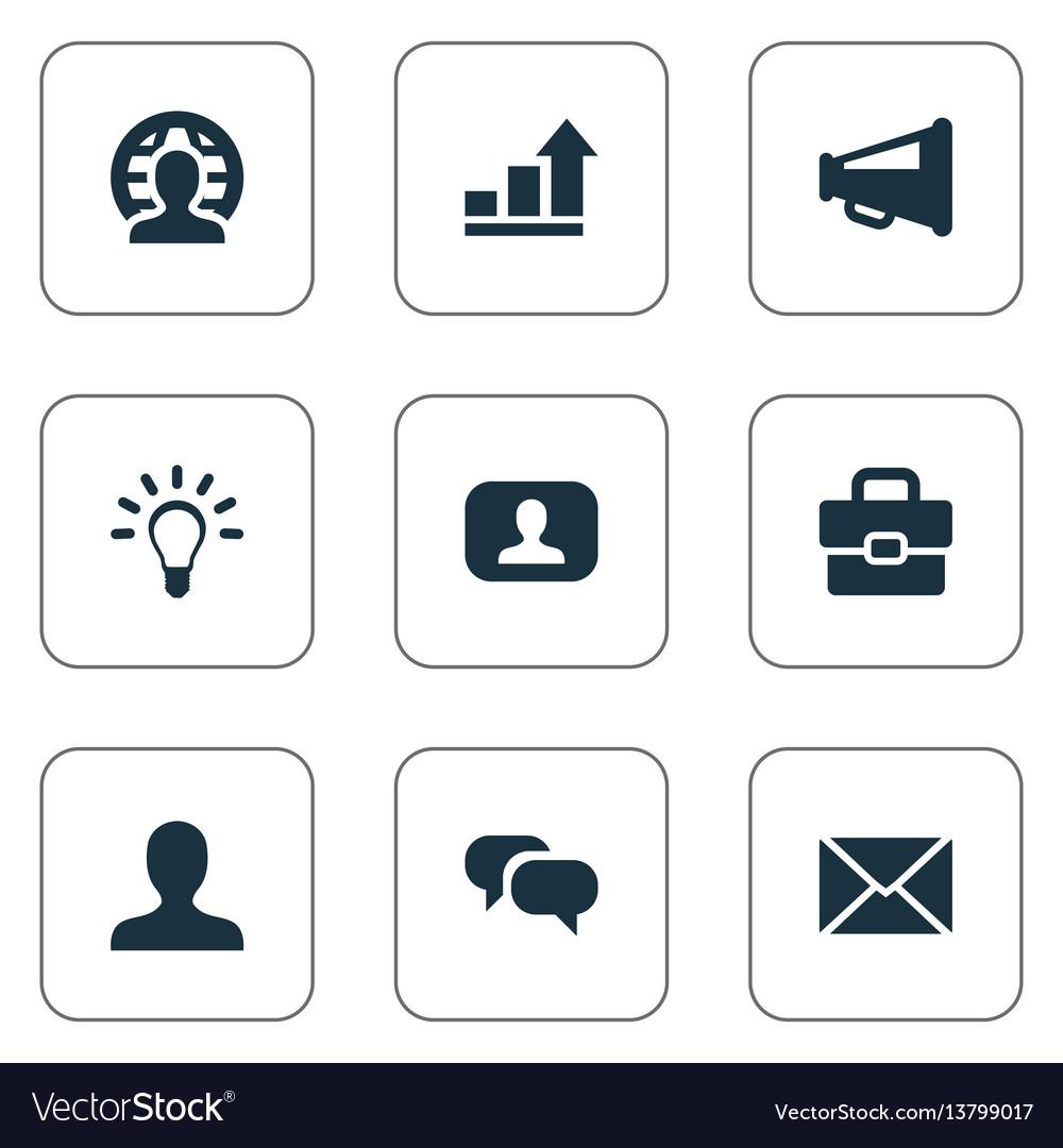 Set of simple job icons