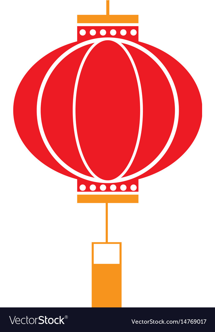 Traditional chinese lantern in a flat style icon Vector Image