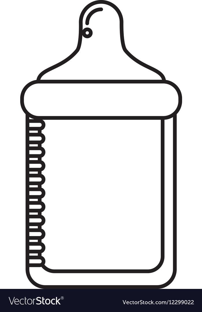 Bottle milk baby isolated icon