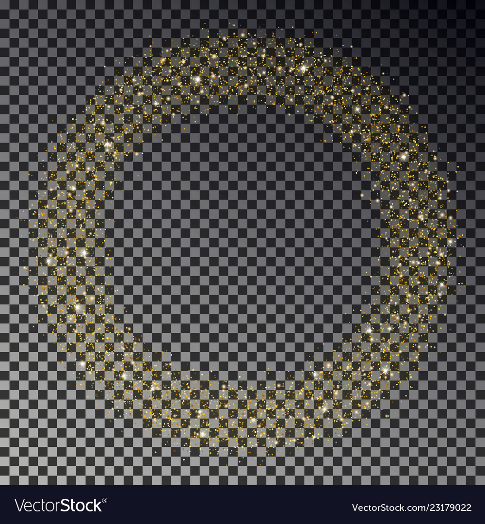 Circle of gold glitter sparkle star dust r