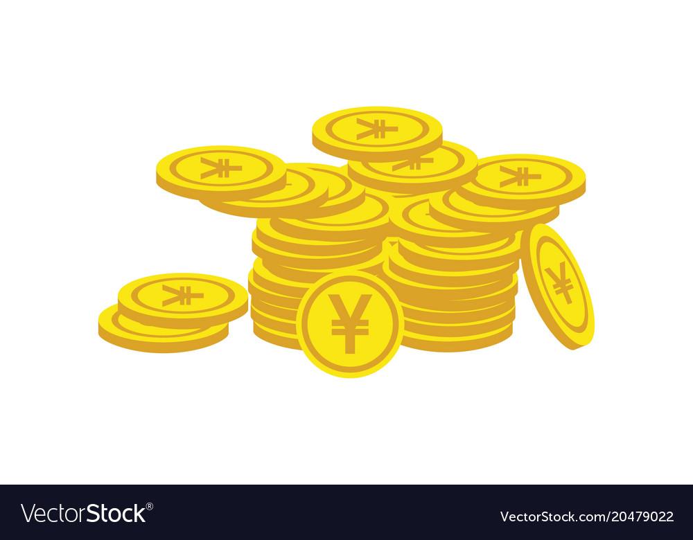 Coin yuan finance growth logo