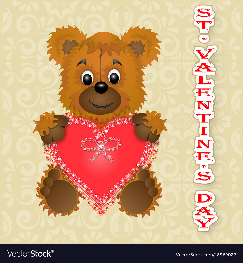 Greeting card happy valentines day keeps the