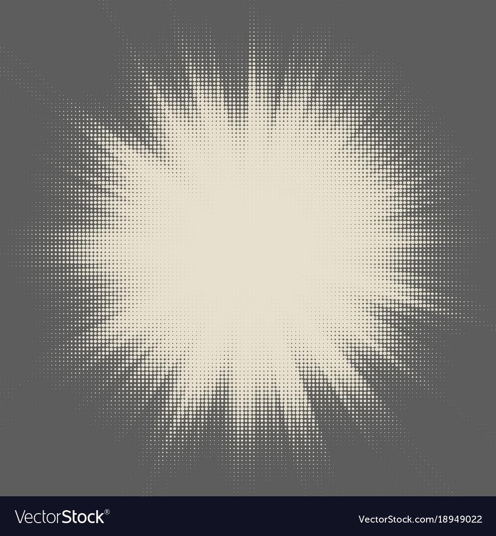 Halftone star- burst design