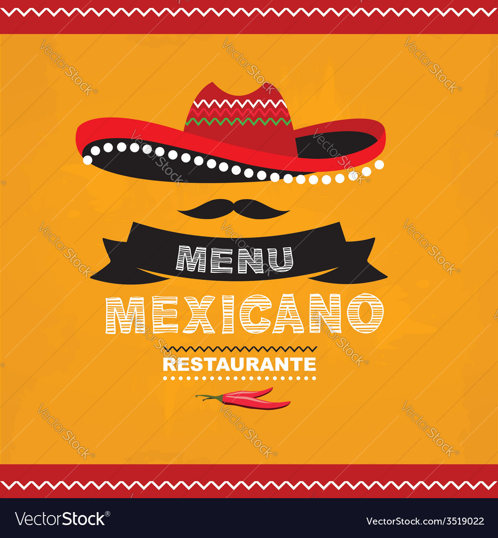 menu mexican template design royalty free vector image