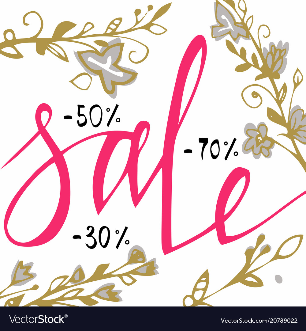 Sale background sale background with blossom