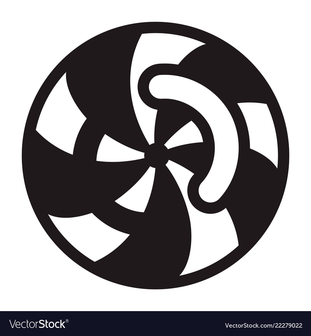 Swirl Icon Simple Style Royalty Free Vector Image