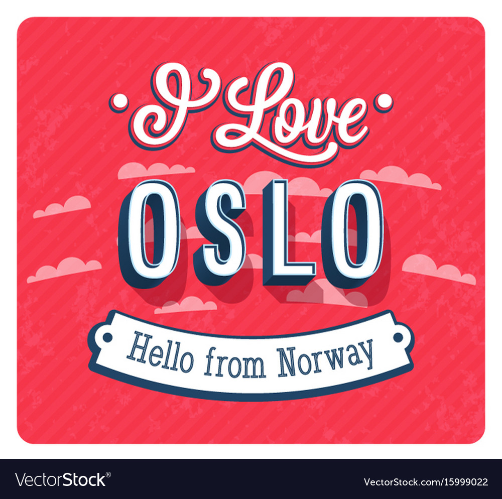 Vintage greeting card from oslo vector image