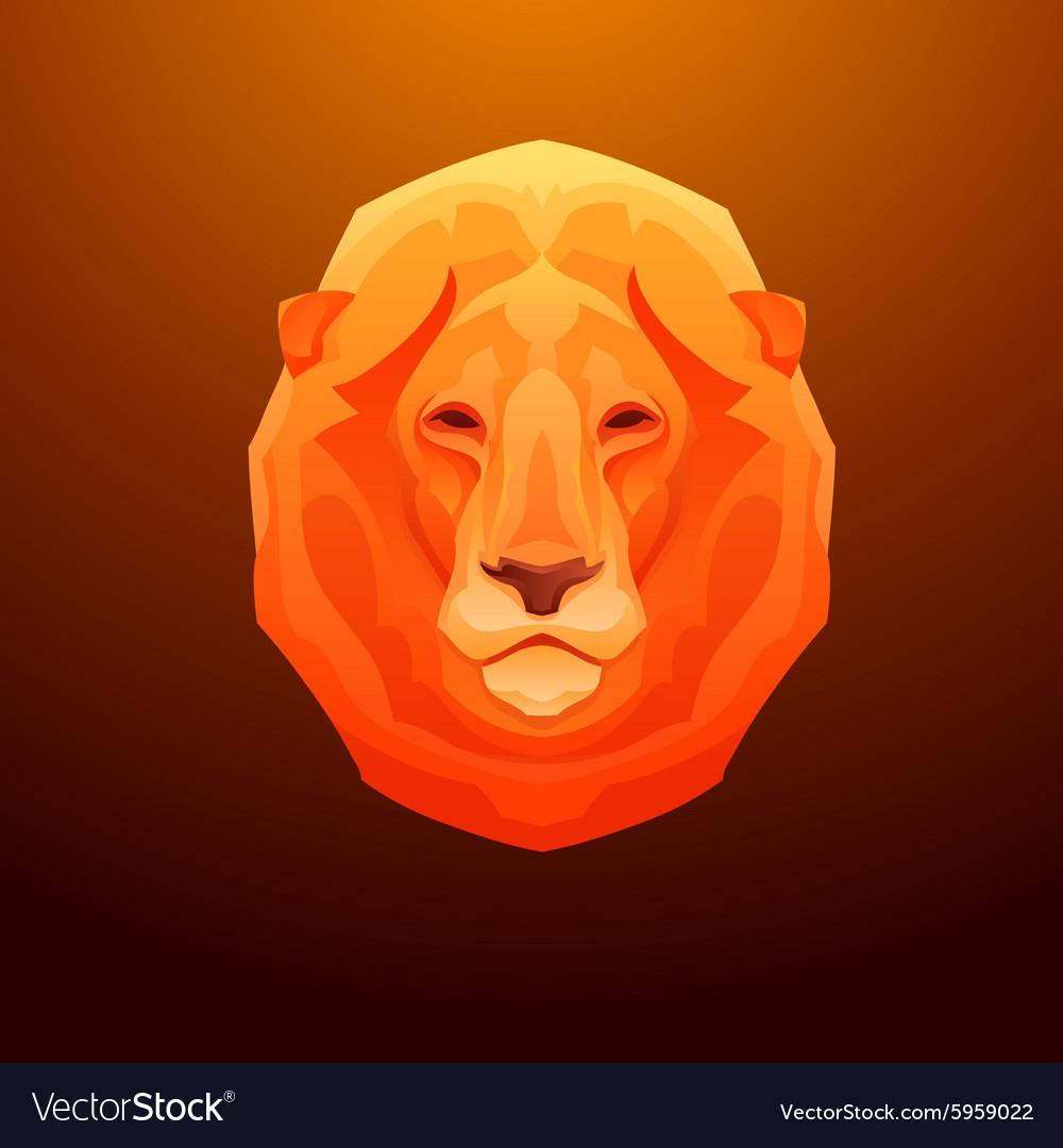 Vintage lion label Retro design graphic