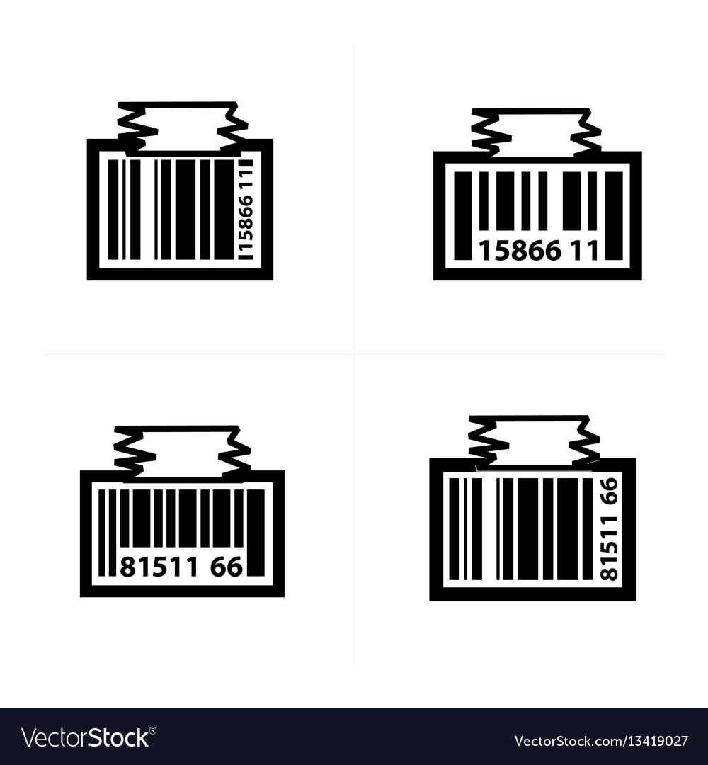 Barcode design tag icon