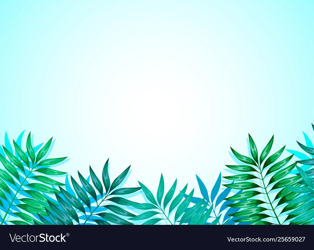 Frame colorful tropical leaves concept the