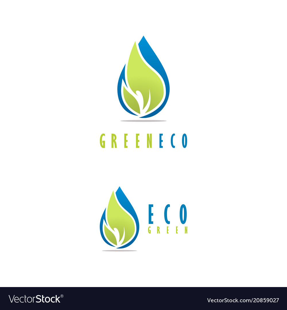 Green ecology logo