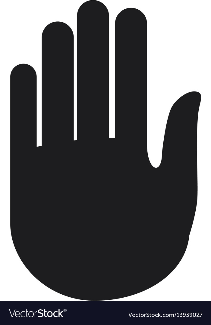 Hand Stop Symbol Pictogram Royalty Free Vector Image