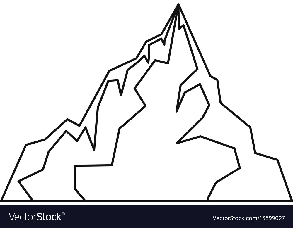 Iceberg icon outline style vector image
