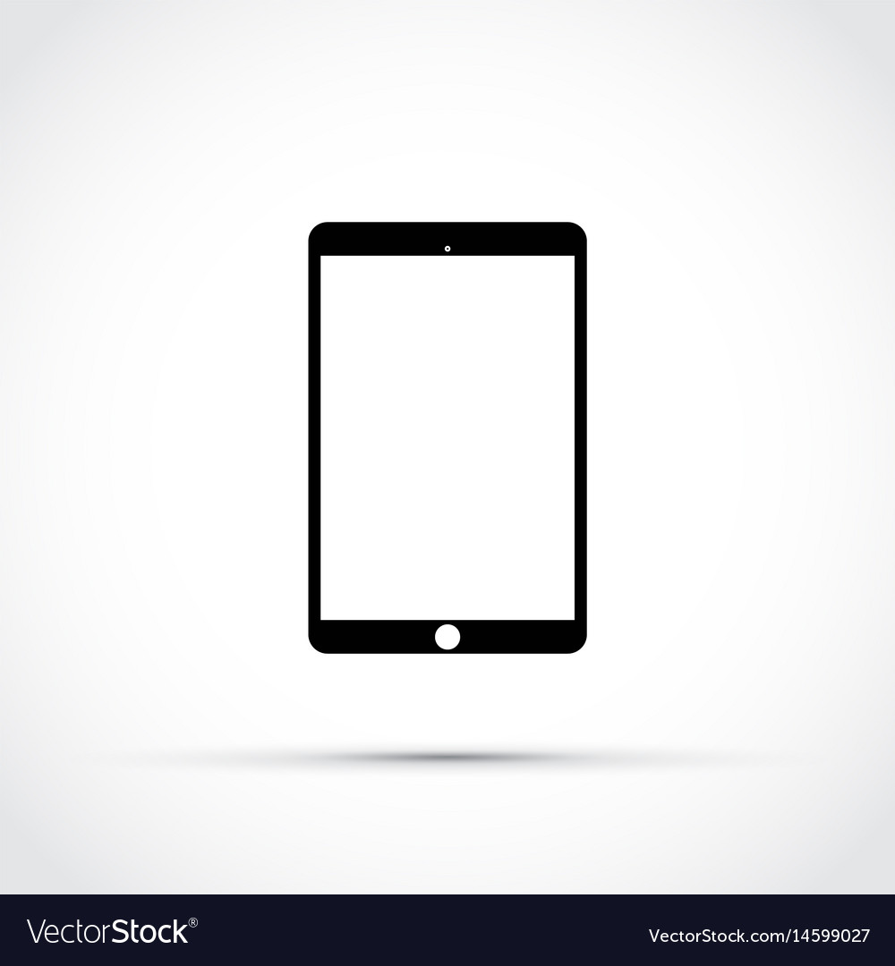 Mobile tablet icon vector image