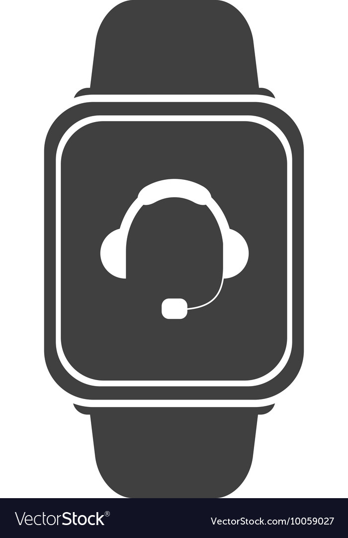 Smart watch with headgear on screen icon