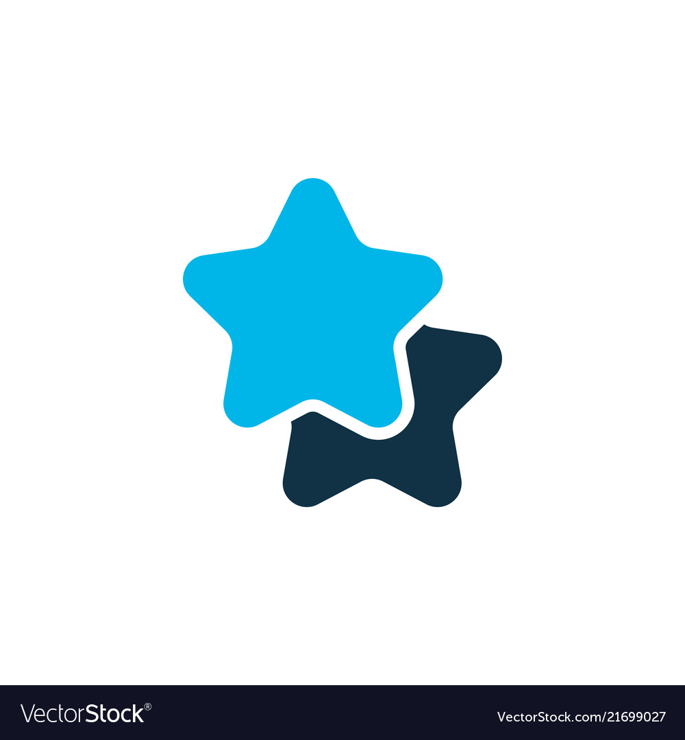 Star icon colored symbol premium quality isolated