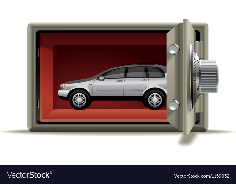 Car protected vector image