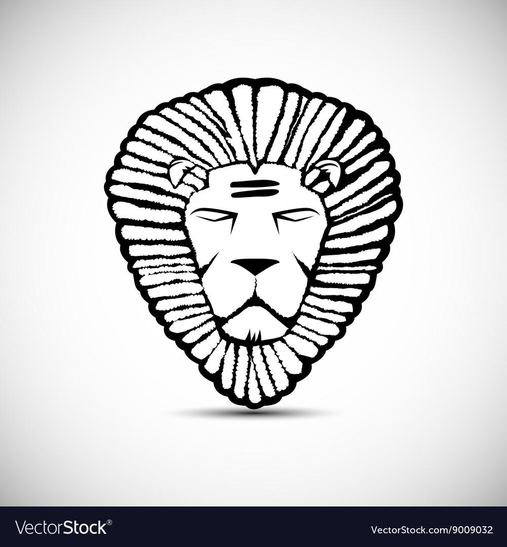 Lion logo design rastafarian concept