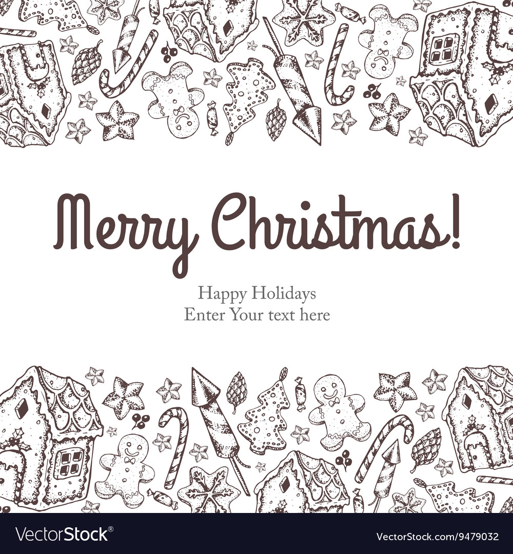 Merry christmas and new year seamless background