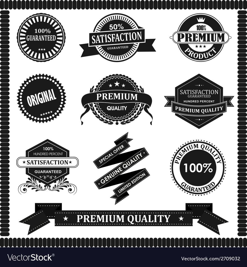 Original label with black