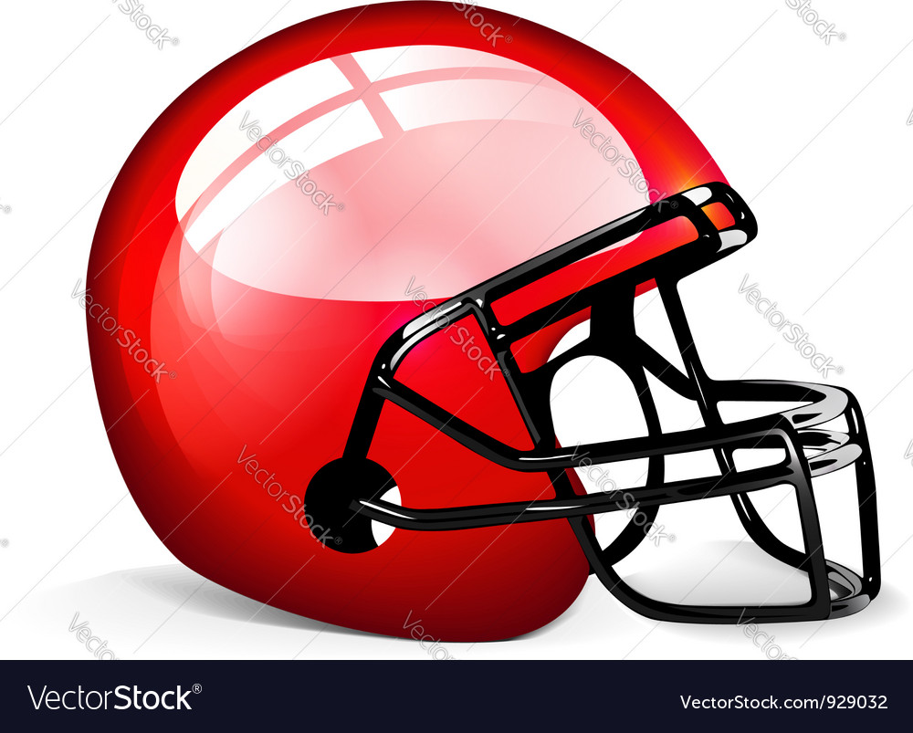 red football helmet royalty free vector image vectorstock rh vectorstock com football helmet vector side football helmet vector logo