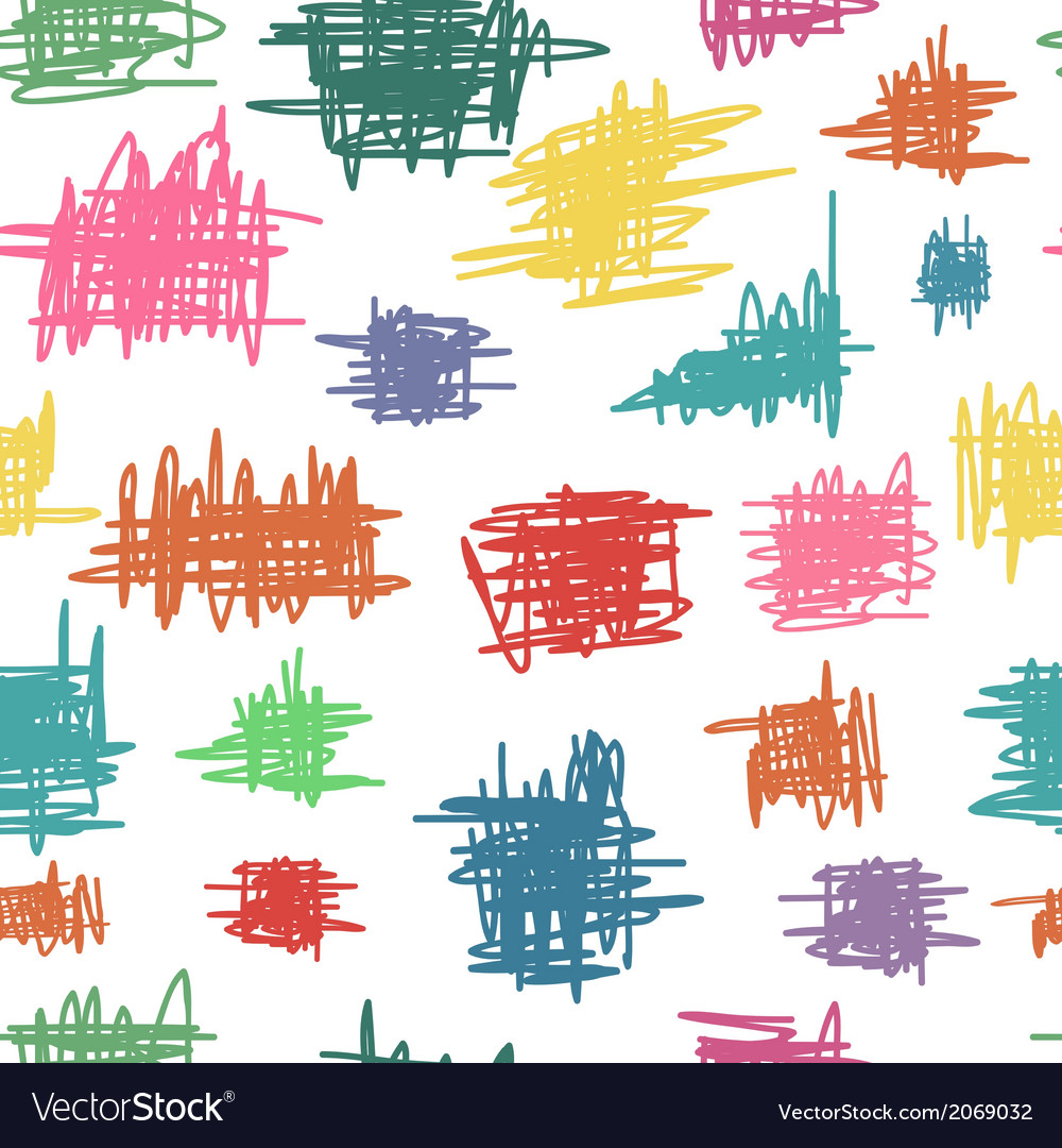 Seamless pattern with sketch