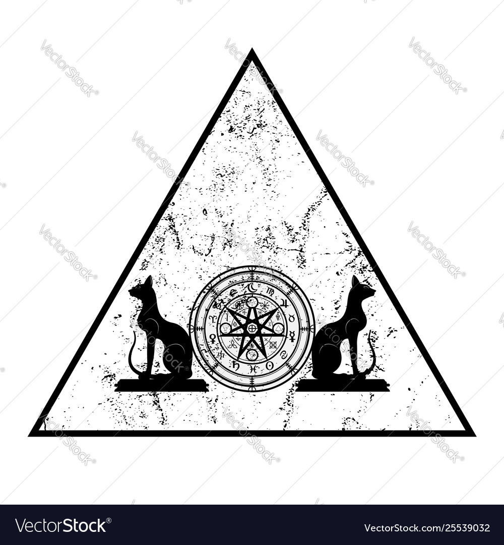 Wiccan symbol protection triangle mandala