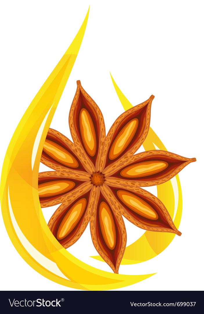 Anise oil stylized drop