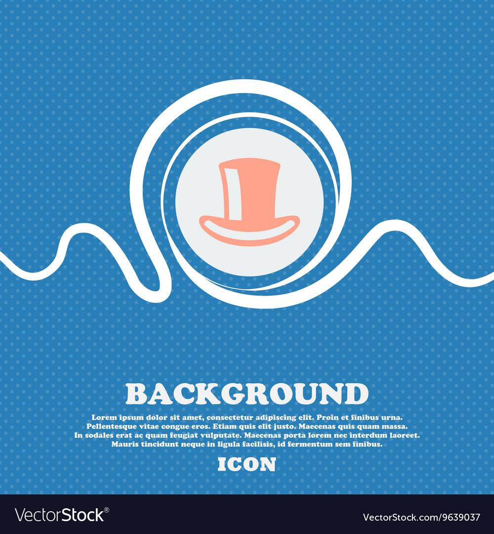 Cylinder hat sign icon Blue and white abstract