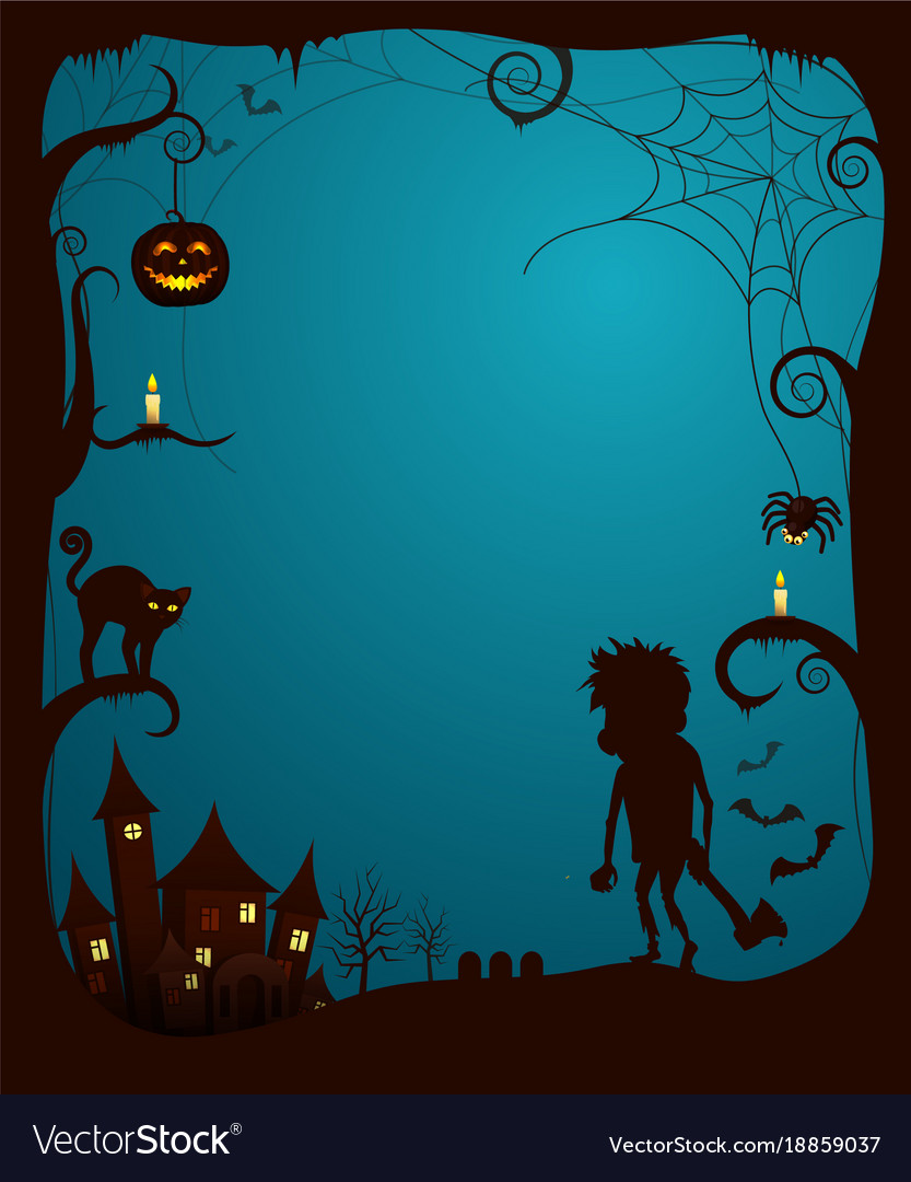 halloween theme scary poster royalty free vector image