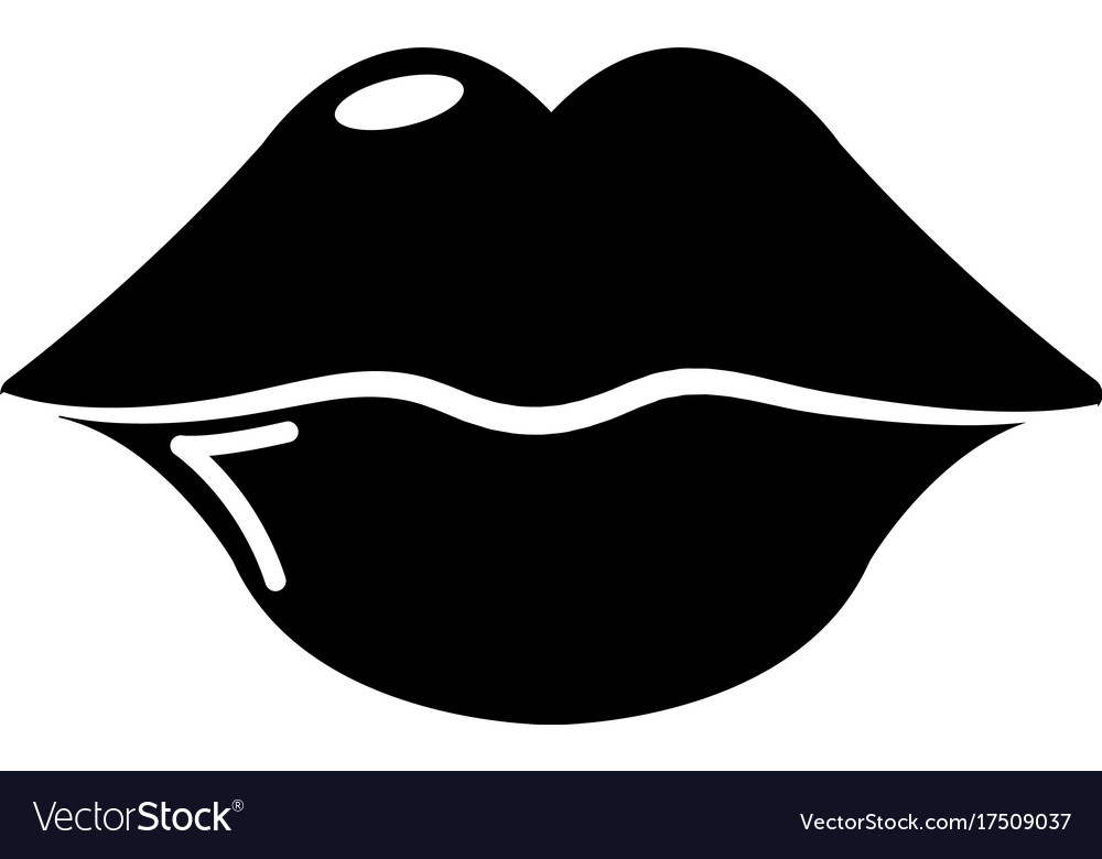 Lips icon simple style