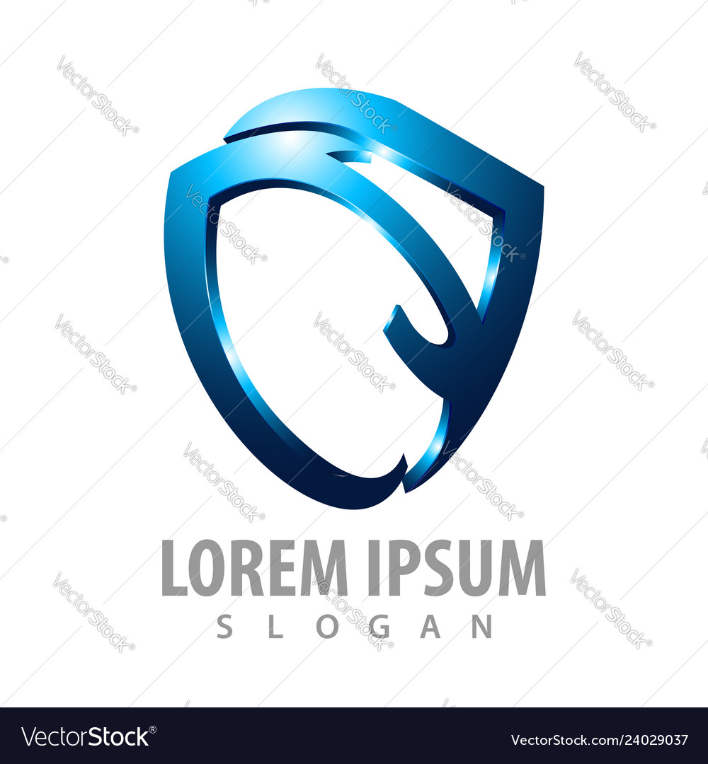 Logo concept design abstract shield symbol