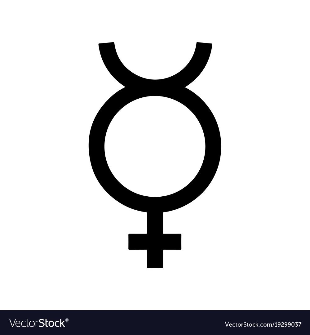 Mercury symbol icon